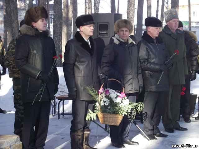 церемония открытия сквера воинской славы